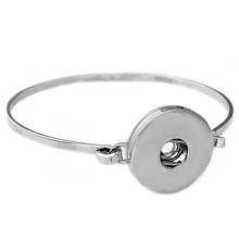 P00445 -6 Wholesale Snap Bracelet&Bangles Chain Silver Fashion Crystal Charm Bracelet Woman FIt 18mm Snaps Button Rivca Jewelry