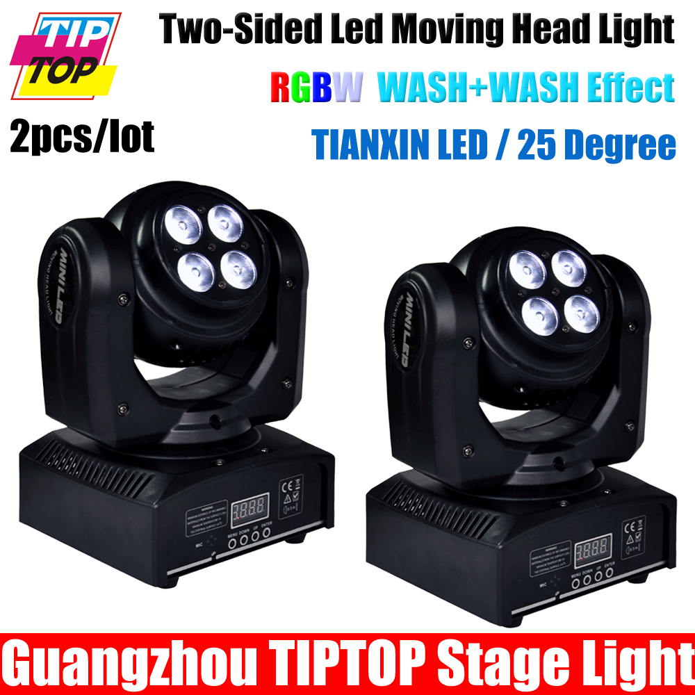 Cheap Price 2pcs/lot Two Face Led Moving Head Light RGBW DMX 512 Control 17/22 channels 100w moving head wash Disco DJ equipment(China (Mainland))