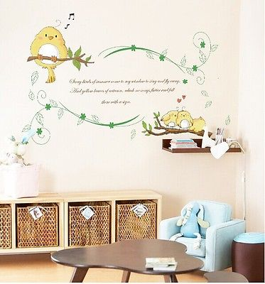 Inal Tree Branches Bird Wall Stickers Decal Removable Art PVC Vinyl Decor Home 50x70CM Original Packing(China (Mainland))