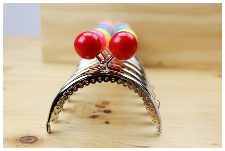 Free shipping/ 8.5cm Sliver Big Head Candy Bead Purse Frame Handle for Bag Sewing Craft Tailor Sewer/wholesale(China (Mainland))