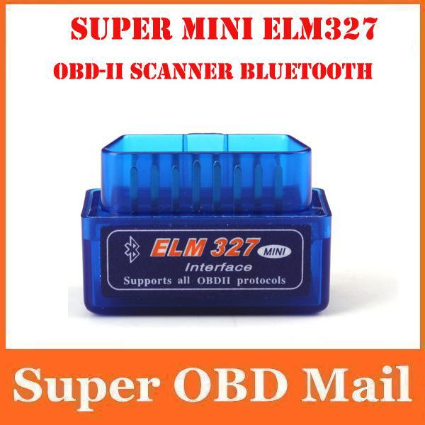 Super smart mini ELM327 Bluetooth OBDII V2.1,Elm 327 Bluetooth obd obdii can bus Car Scan Tool---freeshipping(China (Mainland))