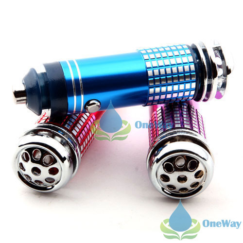 oneway Fashion brand Mini Car Auto Fresh Air Purifier Oxygen Bar Ionizer Well-pleasing(China (Mainland))