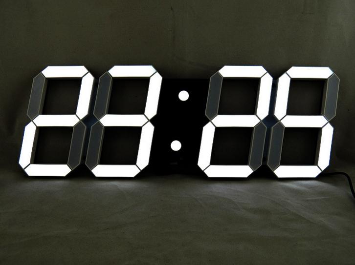horloge murale digitale led. Black Bedroom Furniture Sets. Home Design Ideas