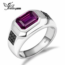 4ct Alexandrite Sapphire Spinel Engagement Wedding Ring For Men Solid 925 Sterling Silver Luxury Design Hot Sale Vintage Jewelry(China (Mainland))