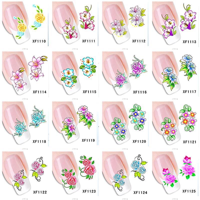 16pcs/lot Women's Nail Foils Sticker Nail Art Stick Nail Patch Lady Nail Care Sticker XF1180-1125(China (Mainland))