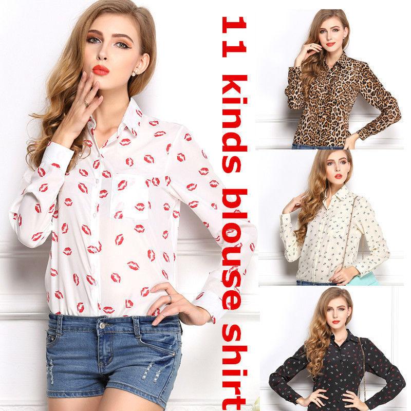 Buy Spring Brand Shirt Chiffon Body Tops 11 Styles Cheap Women Clothes