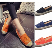 2015 New  Women's Espadrilles Slip-On Boat Flat Flats Fisherman Weave Casual Canvas Loafers oxford shoes ladies casual shoes p21(China (Mainland))