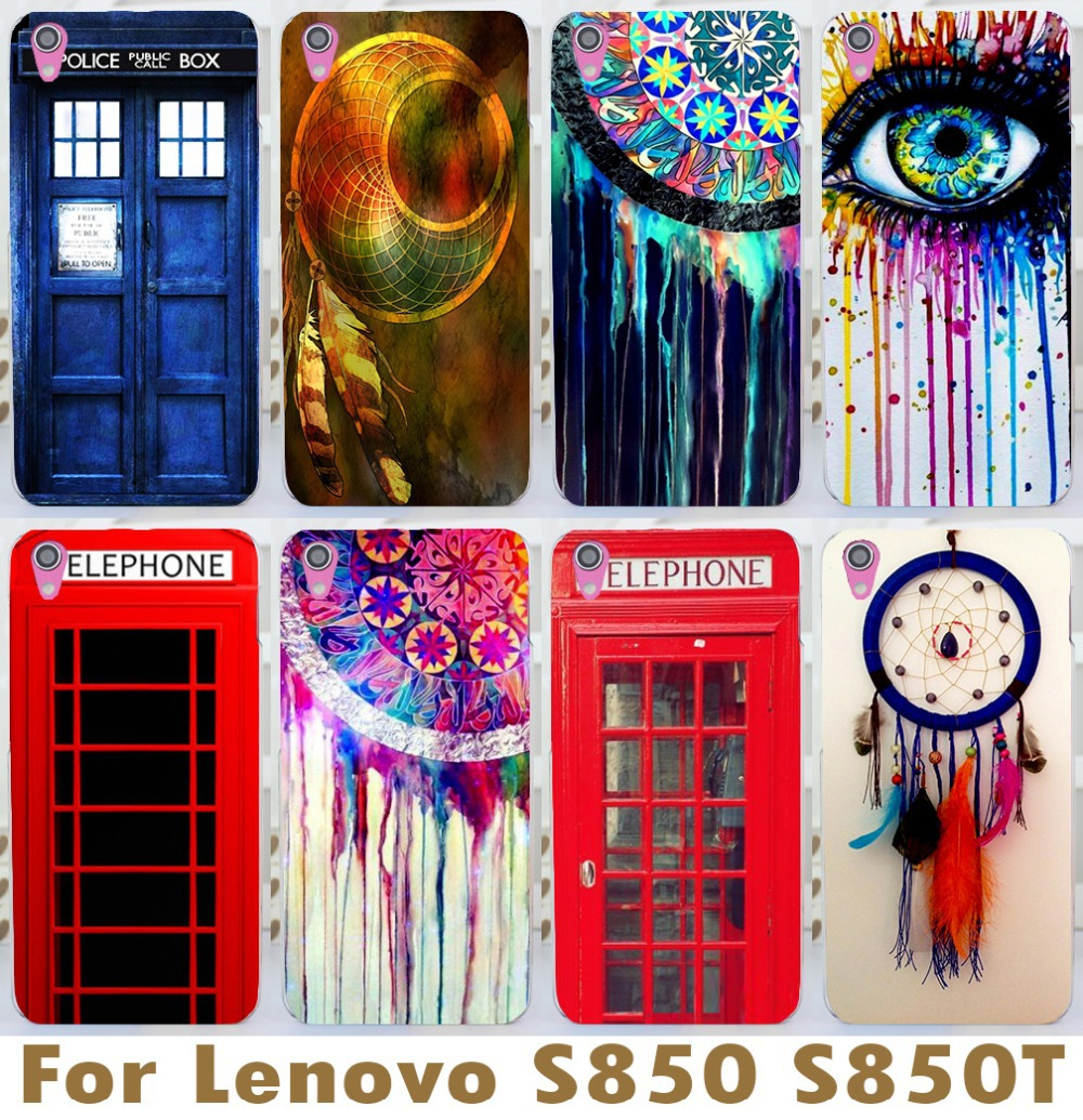 Wholesale For Lenovo S850 S850t Beautiful Dreamcatcher Mix Color Telephone Booth Letters Series 3d Luxury Mobile Phone Cases(China (Mainland))