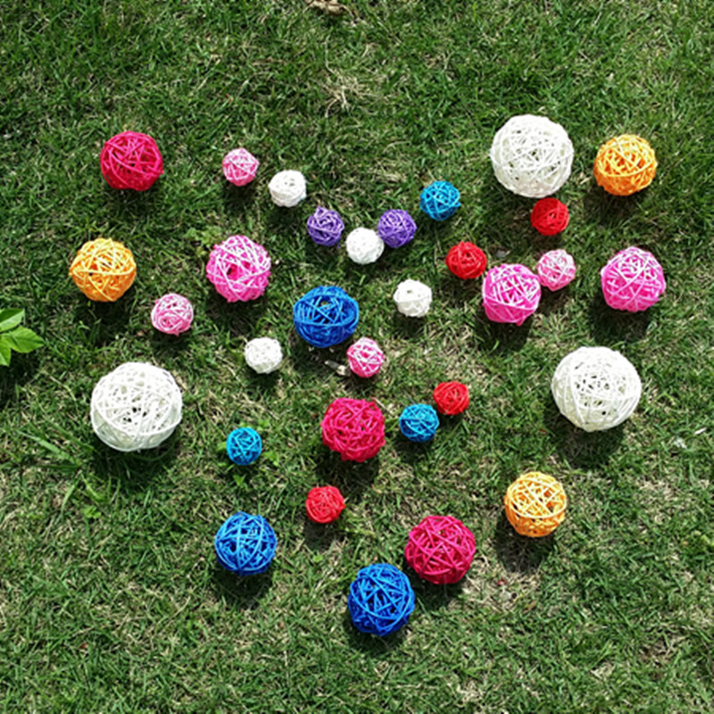 10pcs multi size mix color photography photo props accessories samll sepakakraw ball round rattan ball wedding party decoration (2)