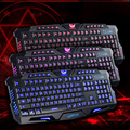 New arrival Gaming Keyboard with 108 keys Waterproof Three Background Wire Gaming Keyboard for Desktop Laptop