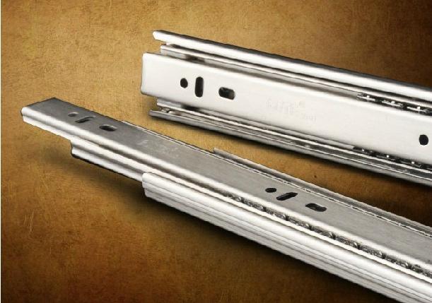 Stainless steel three rail drawer slide rails 10 inches 25 30 35 40 45 50C(China (Mainland))