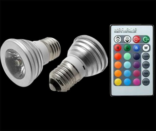 3pcs 3W AC85-265V E27 ( GU10 ) Remote Control 16 Color Changing Lamp Warranty 2 years CE ROHS RGB LED Bulb Spot Light