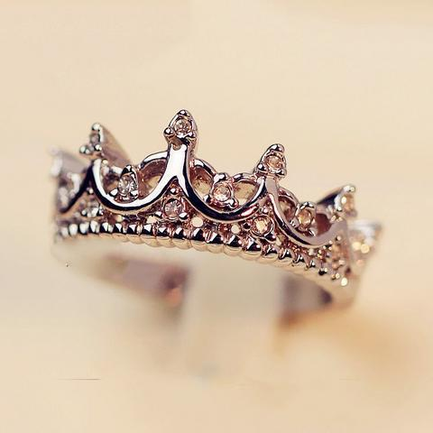 South Korea Crown Ring imported palace restoring ancient ways the queen's temperament Woodwork anillos tail Silver Ring B4 R211(China (Mainland))