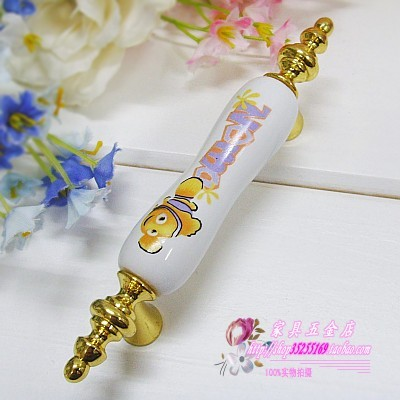 D25-BGP yellow fish ceramic handle antique European style antique European style modern handle<br><br>Aliexpress