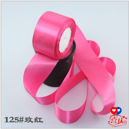 2 inch (50mm) single face Satin Ribbon 25yds Rose Red webbing Wedding decoration Z002 - Fang Decorative Accessories Stores store