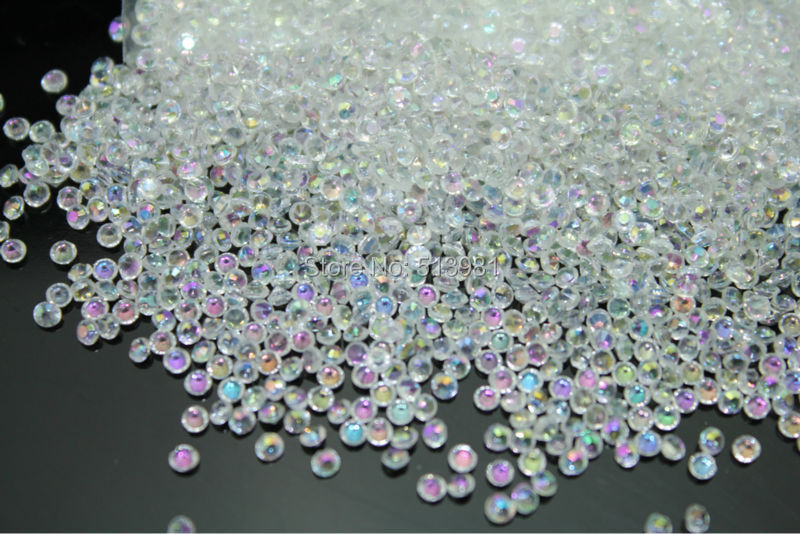 Factory wedding decoration AB-clear color 10000pcs/bag Acrylic Diamond Confetti Wedding Table Scatter Decoration bridal shower(China (Mainland))
