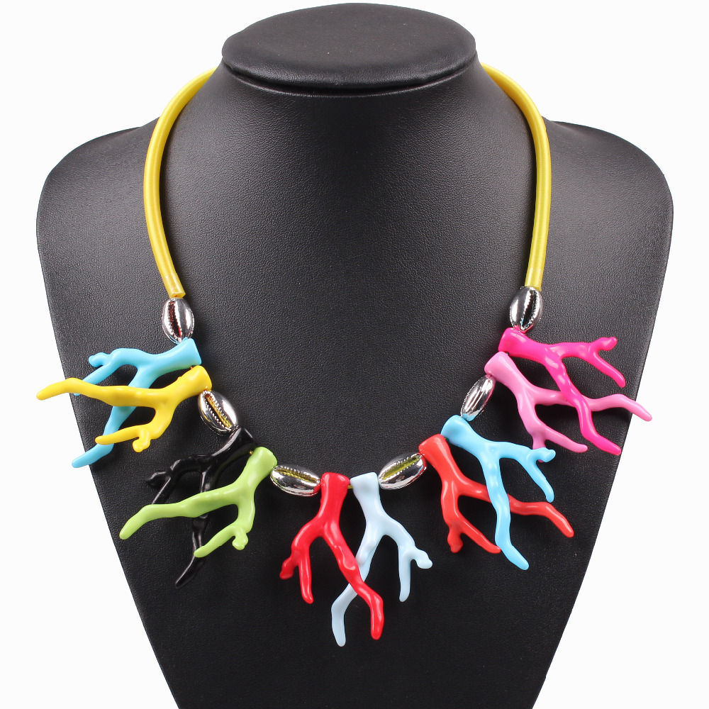 2016 new arrival design fashion brand pendant necklace for girls cheap rope chain chunky statement choker necklace collar gift(China (Mainland))