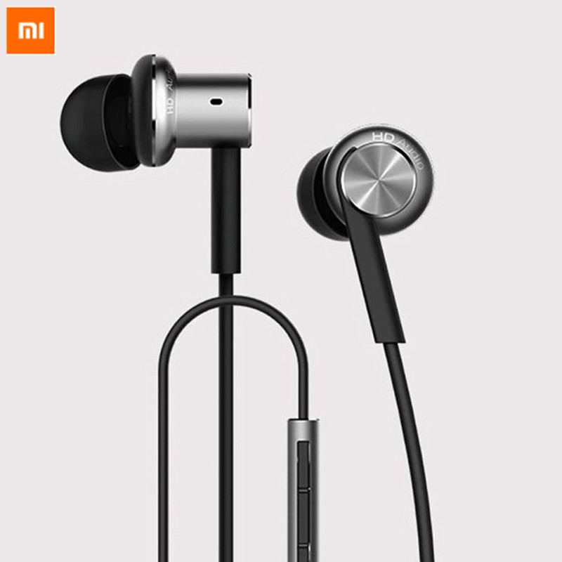 Genuine XiaoMi Circle Iron Headphone Hybrid Piston Dual Driver Earphone Stereo Headset Mic For Xiao Mi 3 4 Mi4 i RedMi Samsung