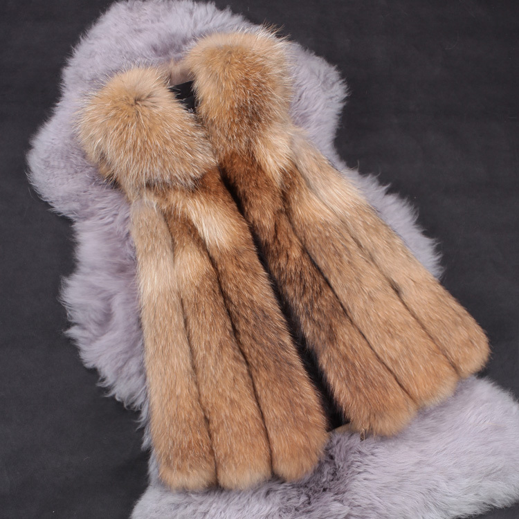 lowest price 100% genuine natural brown color real raccoon fur vest for women winter fashion middle long real fur waistcoat(China (Mainland))