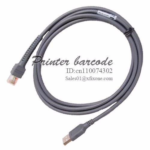 Free shipping 10pcs Fast service CBA-U01-S07ZAR 2m USB to RJ48 cable LS2208 Cable For Symbol LS2208 Barcode Scanner,printer part(China (Mainland))