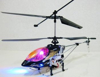 FREE SHIPPING: Metal Frame rc helicopter with Gyro and lights wholesale and retail