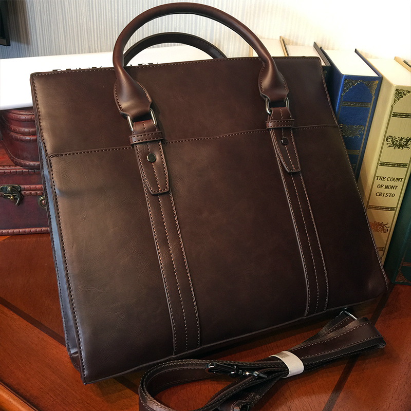 ETONWEAG Brands Cow Leather Luxury Handbags Women Bags Designer Brown Vintage Shoulder Bag Business Laptop Bag Document Handbag