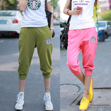 2016 New Summer Women Casual Harem Pants Female Sports Women's Skinny Sport Pants Long Seven Short Capris Trousers K010(China (Mainland))