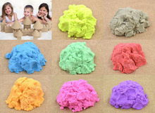 800gram 8 color each color 100 gram DIY indoor play no-mess sand clay drawing novelty children educational magic(China (Mainland))