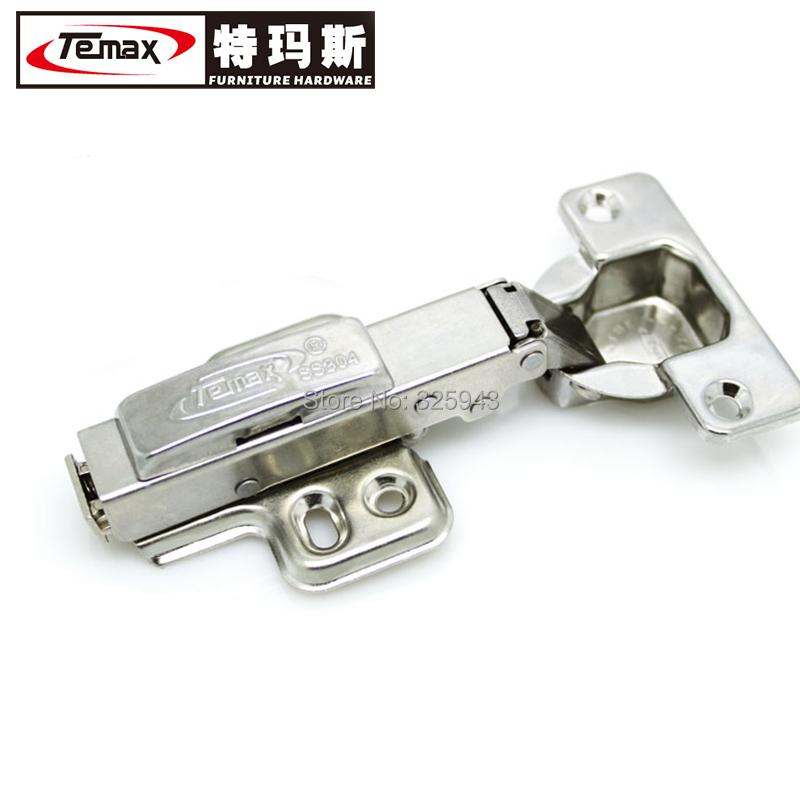 HBS01A 50 stks SS304 volledige overlay hydraulische messing buffer nikkel meubels keukenkast poort scharnier(China (Mainland))