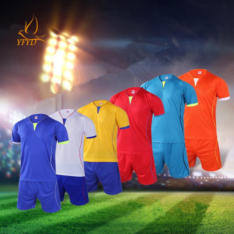 New Season Breathable Quick Dry Adult Soccer Set EURO 2016 Soccer Uniforms Football Kit Sport Jerseys Tracksuit Maillot De Foot(China (Mainland))