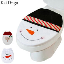 3 Style Choice 1 Pcs Snowman Toilet Seat Cover Toilet lid New Year Xmas Christmas Decoration(China (Mainland))