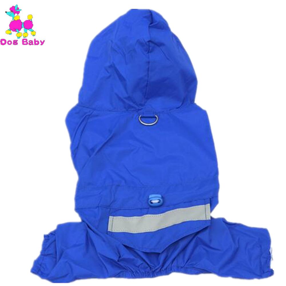 Cloth Solid Pet Raincoat All Season Dog Raincoats Waterproof Dog Clothes Red Yellow Blue Camouflage Raincoat Free Shipping(China (Mainland))