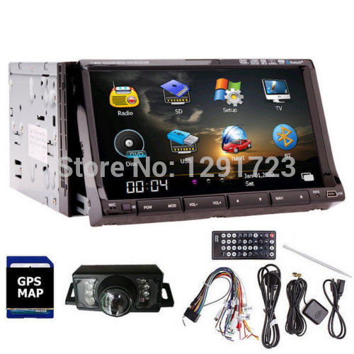 "Double 2din 7"" HD GPS Navigation Car DVD CD Video Player In dash Universal Car Radio Stereo MP3 Player iPod TV Bluetooth 4GB Map()"