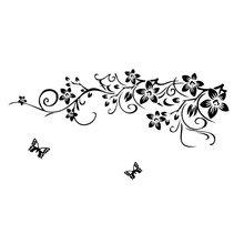 Buy 90 * 60cm Fashion New Sticker black flower vine LOVE butterfly English proverbs bedroom living room sofa Wall Sticker Wall Decal for $5.43 in AliExpress store