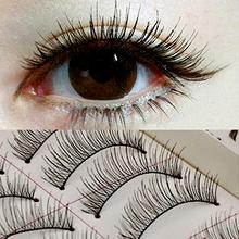 Makeup False Eyelashes 10 Pairs/PCS Long Soft Handmade Fake Eye Lash Extensions Natural Full Strip Lashes CZ6022