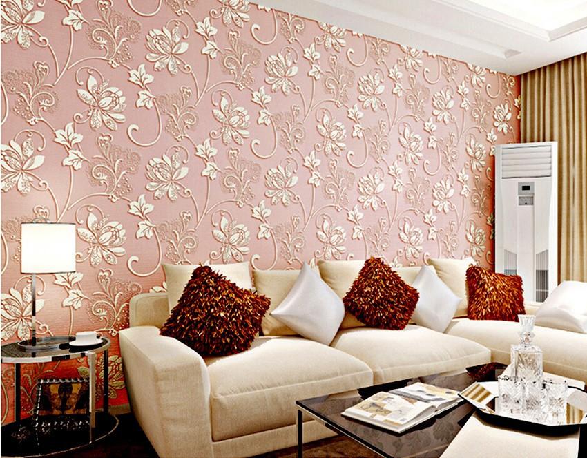 Wholesale Modern European 3d Wallpaper For Walls Damask Bedroom Of ...