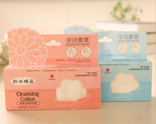 160 Pcs/bag Cosmetic Cotton Pads 100% Cotton Makeup Remover Puff Organic for Facial Nails Toes Wipes
