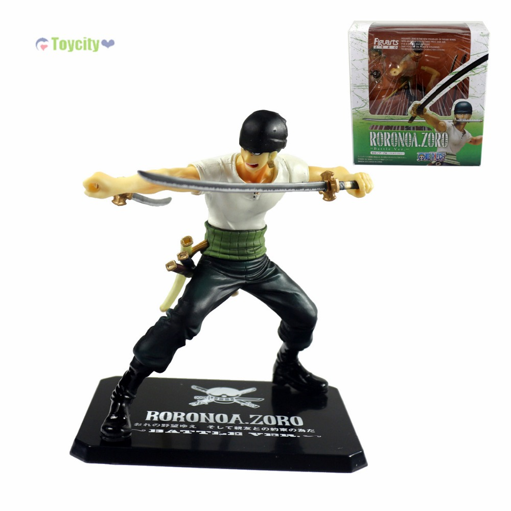 5pcs/set One Piece Roronoa.Zoro Battle Ver. 5 Action Figure New in Box<br><br>Aliexpress