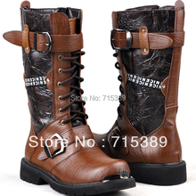 Vintage boots punk martin boots male high boots fashion high-leg men's  boot motocross sales and free shipping(China (Mainland))