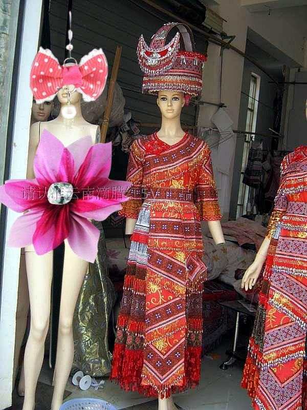 Popular miao hmong buy cheap miao hmong lots from china for Laos wedding dress for sale