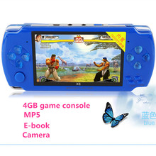 2016 newes 4GB 4.3 inch LCD Screen MP4 MP5 Players video Games Console Handheld Game free 2000+ games ebook/FM/1.3 MP Camera(China (Mainland))