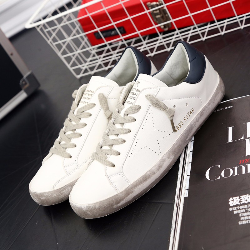 New Brand Designer 2016 Italy Golden Genuine leather Casual Men Shoes Goose All Sport Star Breathe Shoes Footwear Zapatillas