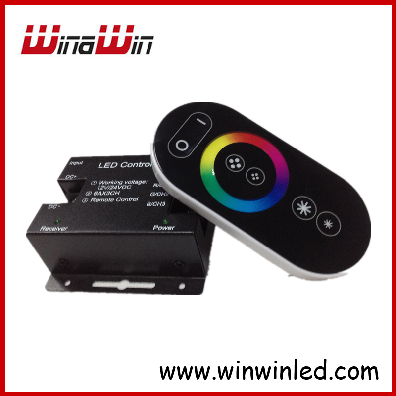 RF Wireless Touch RGB Led controller with remote 18MODES controlable distance DC12-24V(China (Mainland))