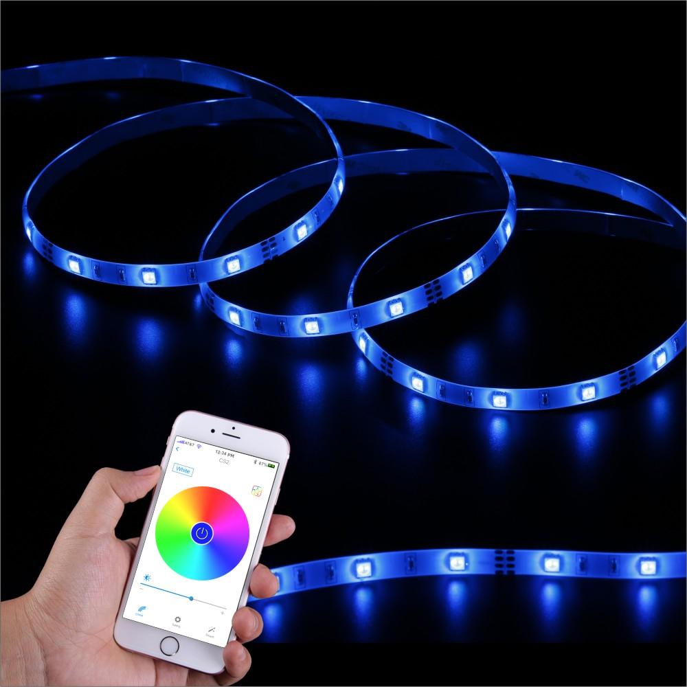 SingHong 300cm 90 LEDs Bluetooth Light Strip RGB 16 Million Colors Brightness Adjustable Smartphone App Control Indoor Use(China (Mainland))