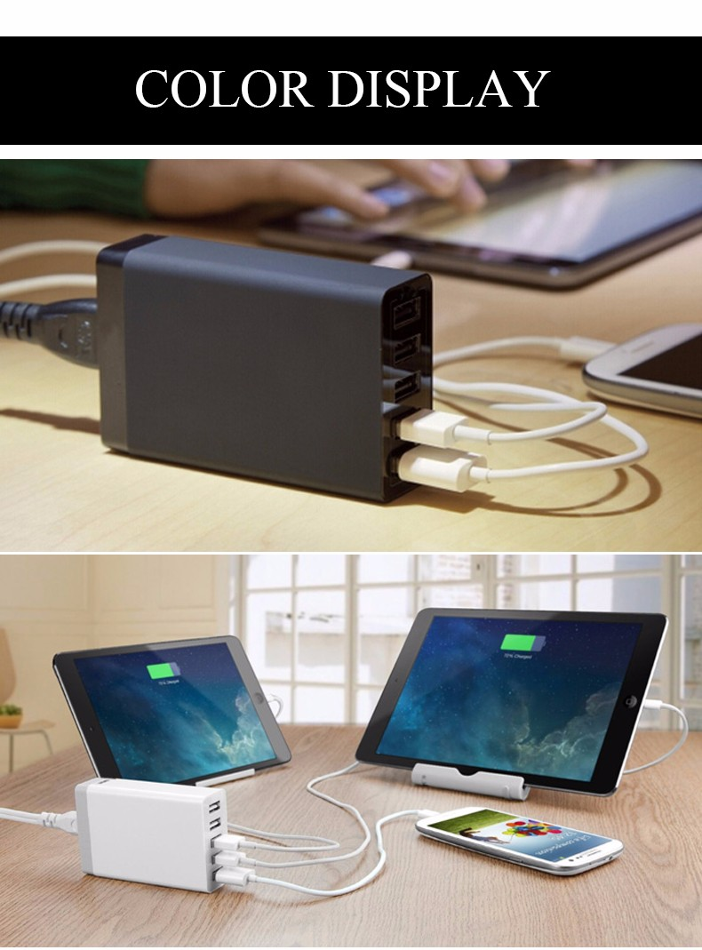 EU AU UK US High Speed 5 Ports USB HUB Charger 8A Phone Charger A.C. Source Desktop for PC Laptop Camera Mouse Hard Disk