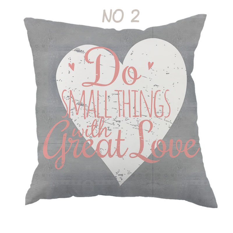 Do Small Things With Great Love Heart cushion cover Decor Home