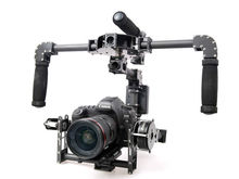 New IPOWER 3 Axis DSLR Camera Carbon Brushless Gimbal Handle Stabilized Mount steadycam for 5D2 Run