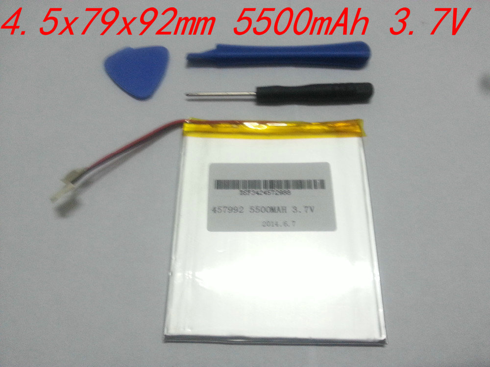 Планшетная батарея TCL 3.7V /5500mah 7, 8, 9/icoo D70pro II,  4,5 * 79 * 92 457992 3 7v 5500mah li ion polymer lithiumion battery for 7 8 9 inch tablet pc icoo d70pro ii onda sanei 4 5 79 97mm free shipping