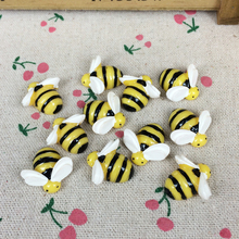 10 Pieces Flat Back Resin Cabochon Animal Bee DIY Flatback Scrapbooking Accessories Embellishment Decoration Craft Making:20mm