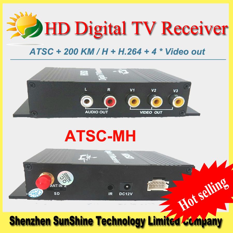 2014 New HD PVR Digital  H.264 ATSC TV Tuner car TV Receiver USB/HDMI for Mexico/USA/Canada ATSC-MH USA Digital TV receiver